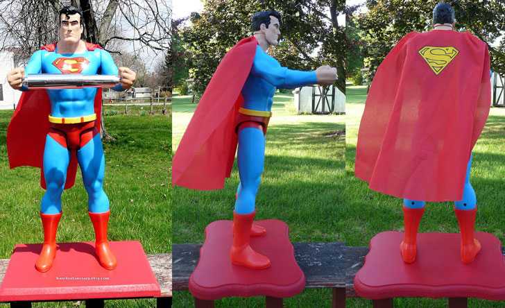 Free-Standing Superman Toilet Roll Holder