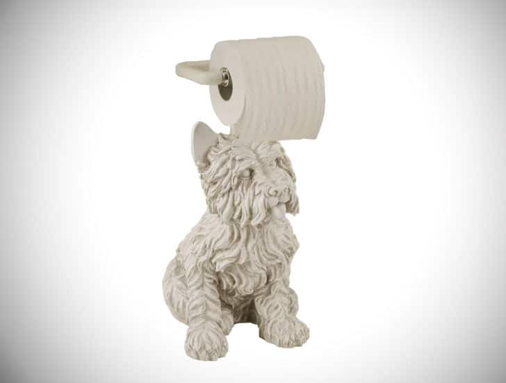 Free Standing Westie Dog Toilet Paper Holder