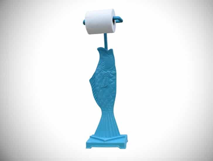 Freestanding Fish Toilet Paper Holder