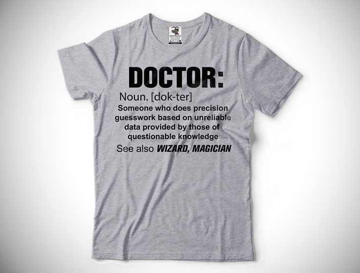 Funny Doctor Definition T-Shirt - gifts for doctors