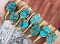 Genuine Turquoise Cuff Bracelets