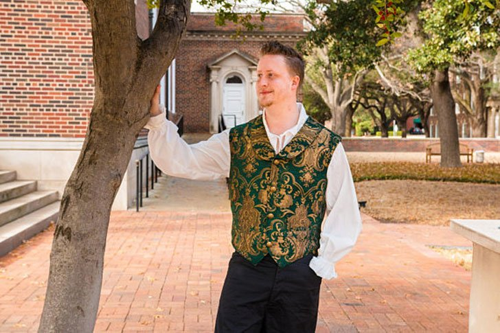 Green and Gold Victorian Vest
