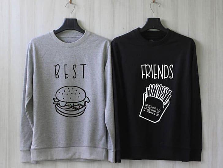 Hamburger and Fries Best friend Sweatshirts