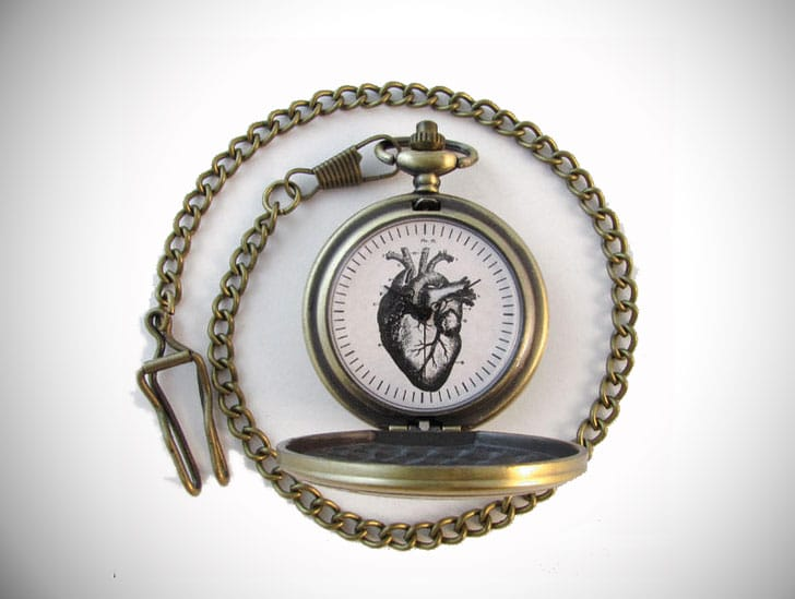 Heart Pocket Watch - gifts for doctors