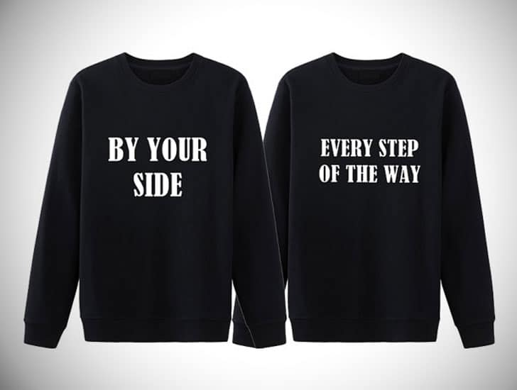 His & Hers By Your Side Sweaters