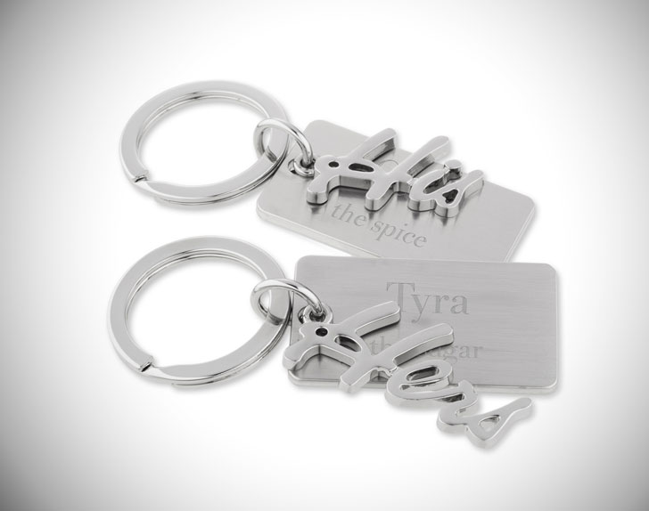 His and Hers Couples Keychain