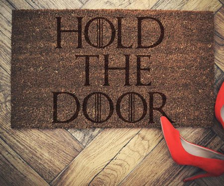 Hold The Door Doormat