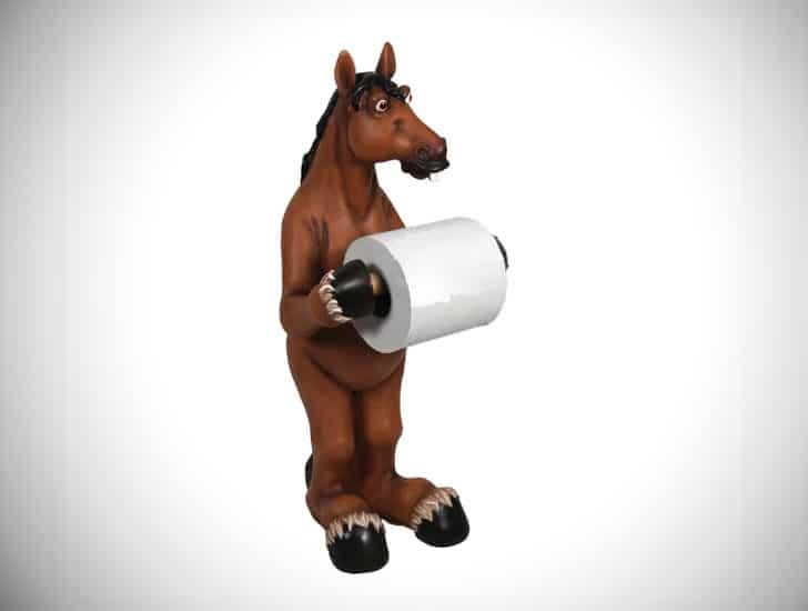 Horse Free Standing Toilet Paper Holder