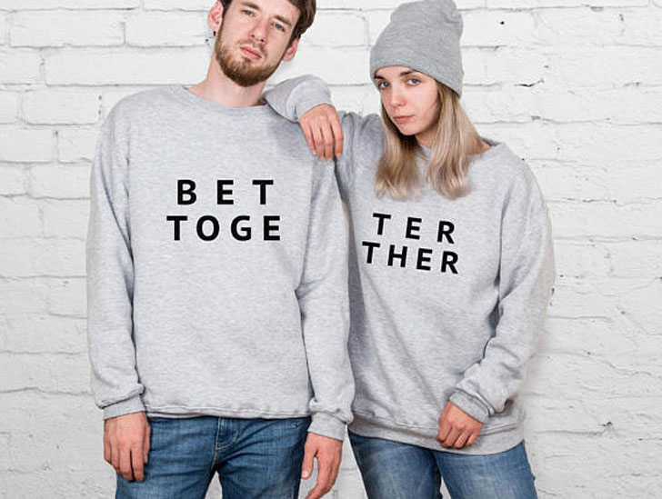 Humorous Better Together Sweater