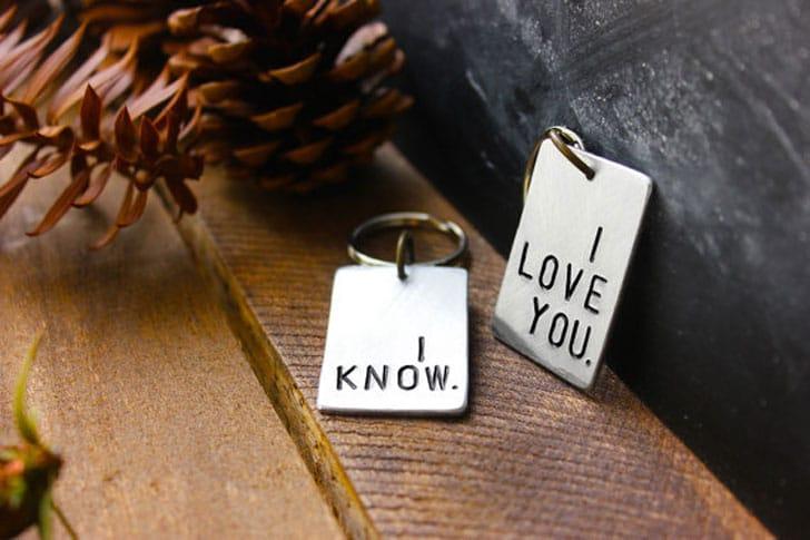 I love You - I know Keychain Set