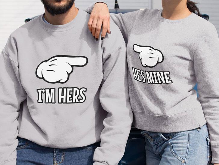 I'm Hers - He's Mine Couples Sweaters