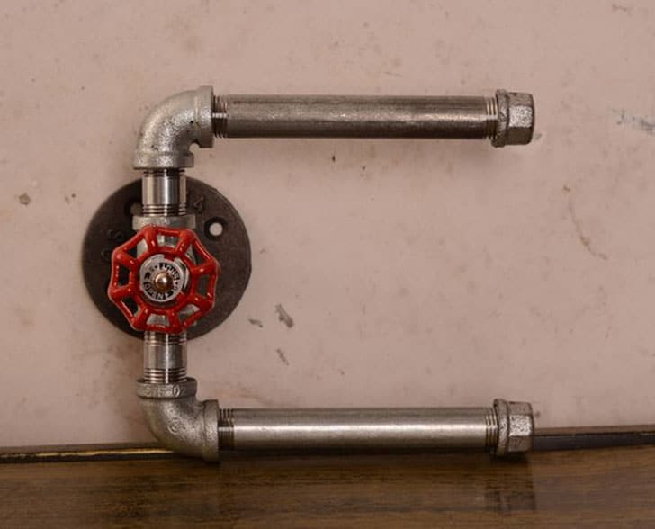 Industrial Double Roll Toilet Paper Holder