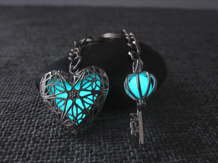 Key To My Heart Glow in the Dark His and Her Keychain