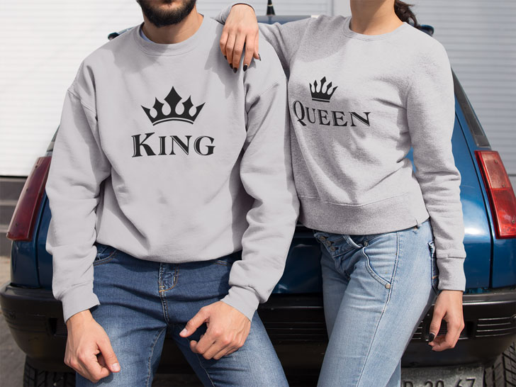 King & Queen Couples Sweater