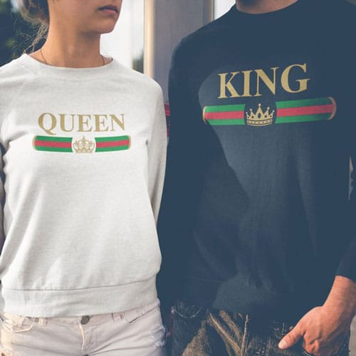 King & Queen Couples Sweaters