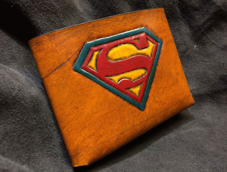 Leather Superman Wallet