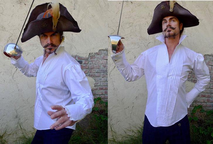 Men's White Steampunk Dandy Shirt