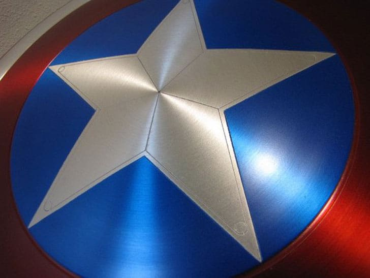 Metal Captain America Shield