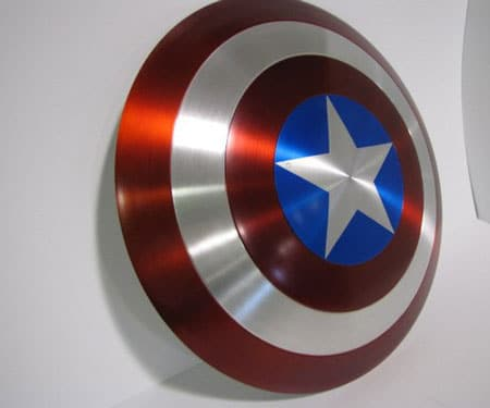 Metal Captain America Shield