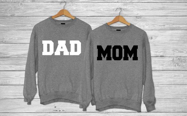 Mom & Dad Couple Crewneck Sweatshirt