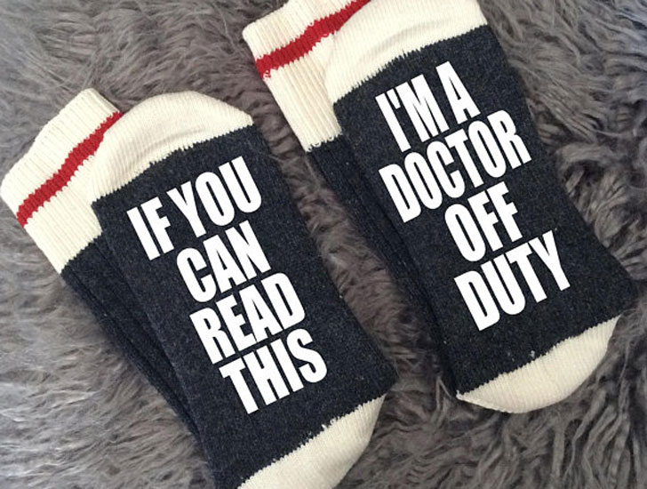 Off-Duty Doctor Socks - gifts for doctors