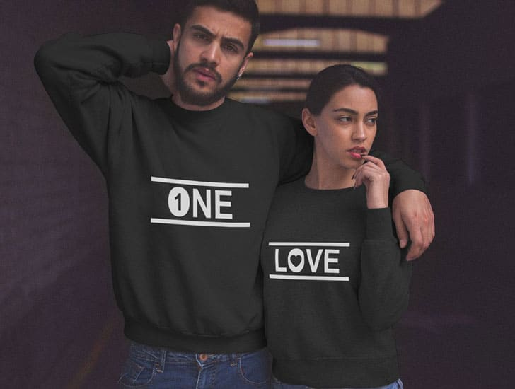 One Love Couples Sweaters