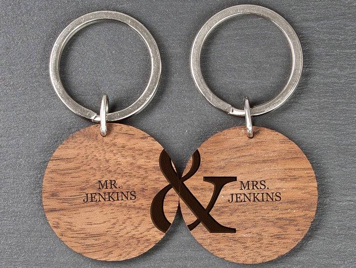 Personalised Couples Key Rings
