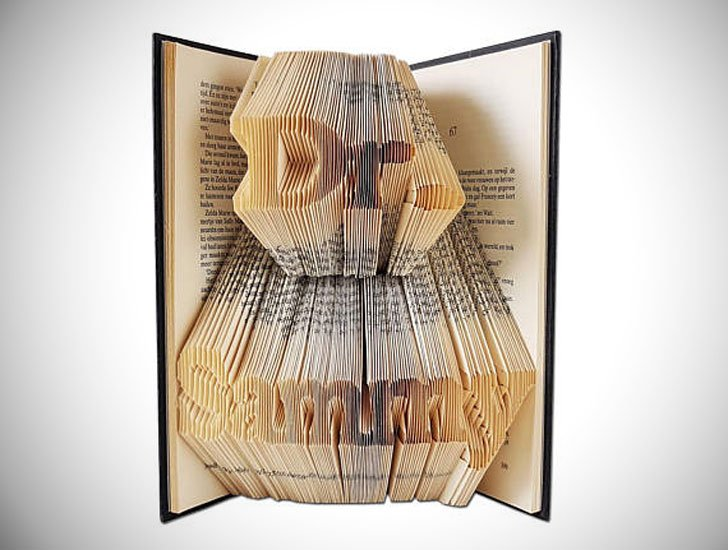 Personalized Folded Book Art Doctor Gift