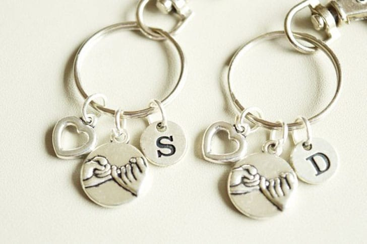 Pinky Promise Keychains for Couples