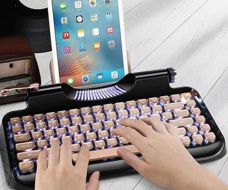 Retro Typewriter Tablet Keyboard