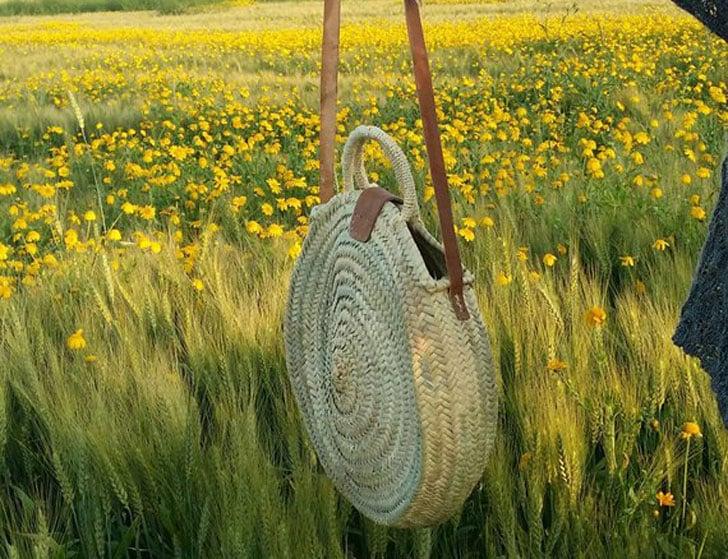 Round Straw Shoulder Bag