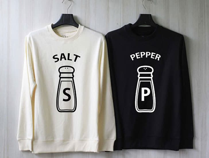 Salt and Pepper Couples Sweaters