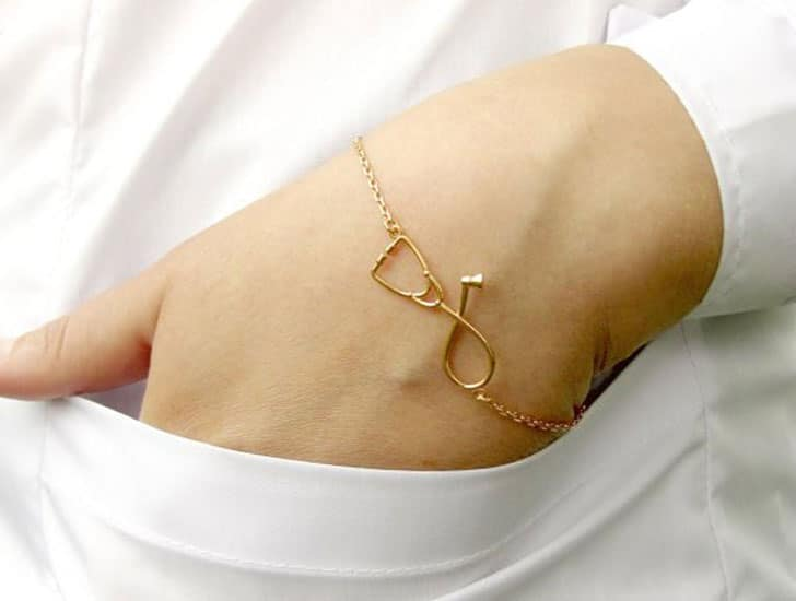 Silver Stethoscope Bracelet - gifts for doctors