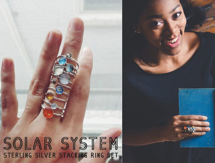 Solar System Stacking Rings