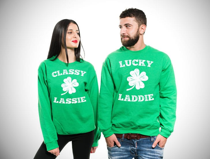 St Patricks Day Matching His & Hers Sweaters