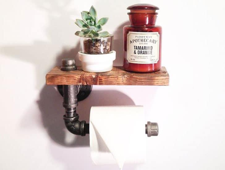 Steampunk Industrial Bathroom Toilet Paper Holder