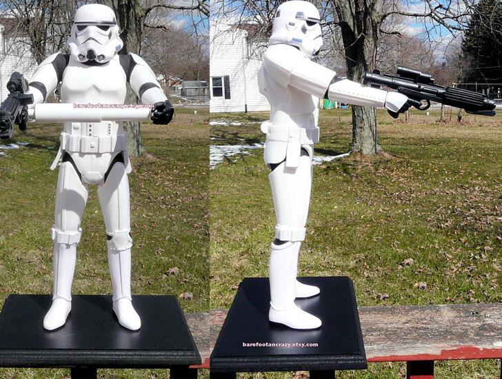 Storm Trooper Toilet Tissue Holder