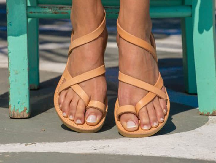 Triskelion Greek Leather Sandals