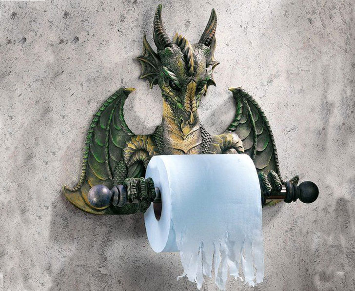 Wall Mounted Commode Dragon Toilet Paper Holder