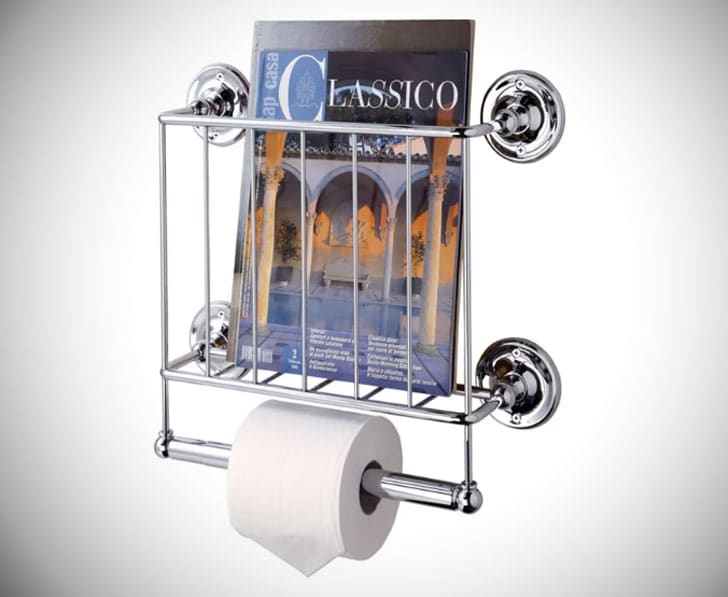 Wall-Mounted Magazine Rack Toilet Roll holder