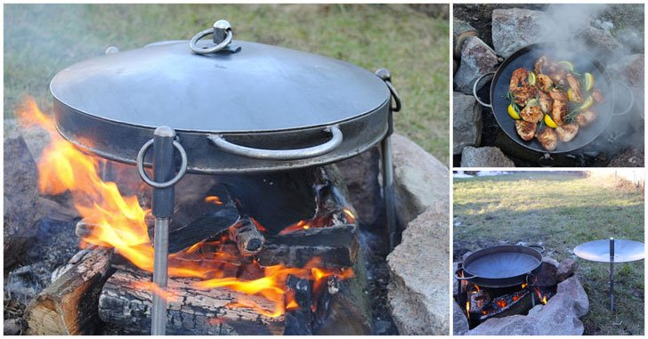 Cast Iron Campfire Frying Pan Skillets Awesome Stuff 365
