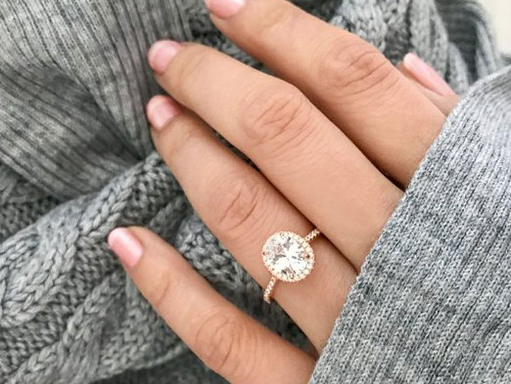 2.25 ctw Oval Halo Vintage Style Engagement Ring