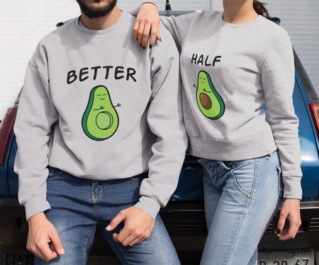 Avocado Halves Couples Sweaters