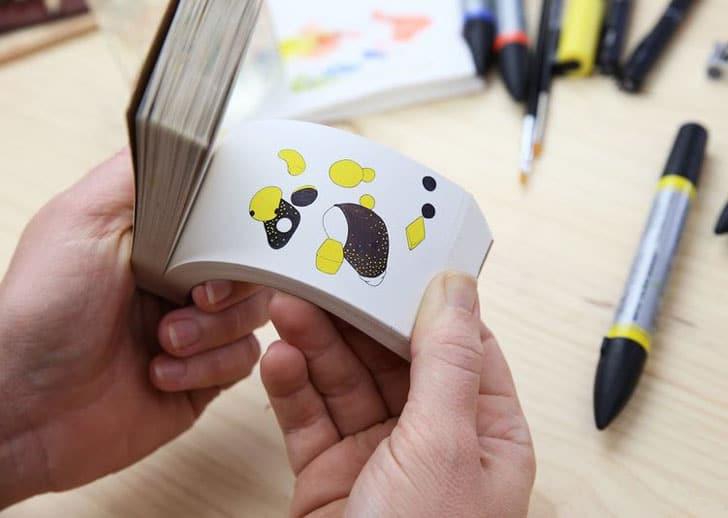 6-in-1 Optical Illusion Flip Book