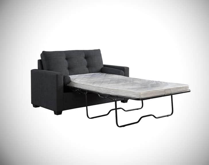Avesta Navy Blue Linen Convertible Sleeper Chair