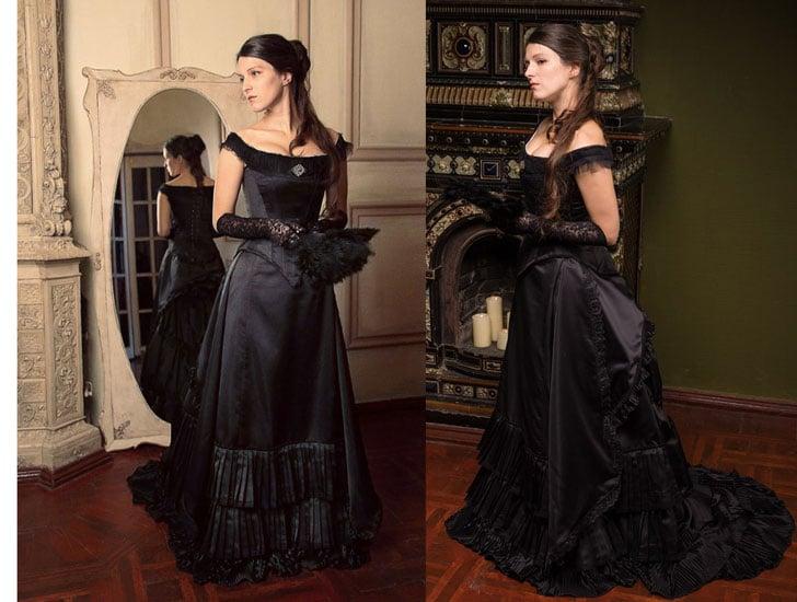 Black Victorian Bustle Dress