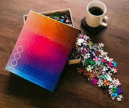 CMYK Spectrum Puzzles