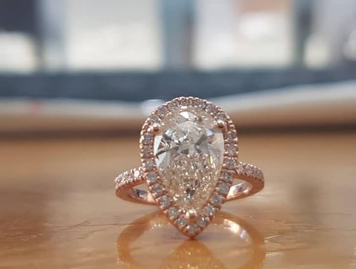 1 ½ Carat Rose Gold Art Deco Ring