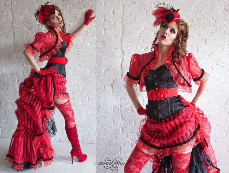 Cirque Rouge Burlesque costume Steampunk Prom Dress - Steampunk Costumes For Women