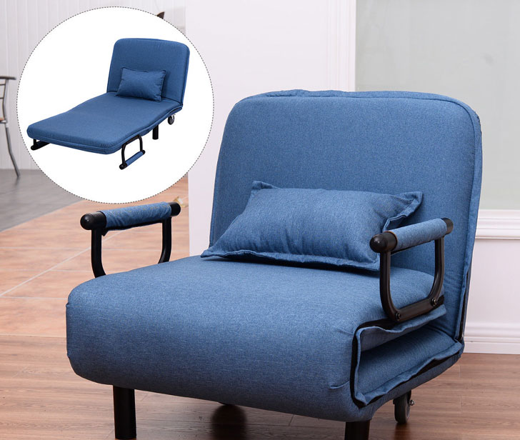 Costway Sofa Bed Folding Arm Chair